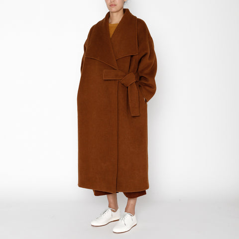 Lapel Winter Coat - FW19 - Rust