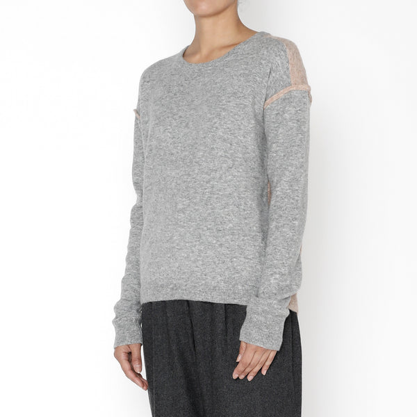 Highlighted Seam Sweater - FW19 - Husky + Faune