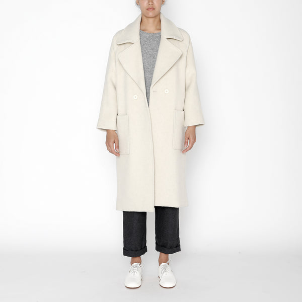 Classic Long Wool Coat - FW19 - Cream