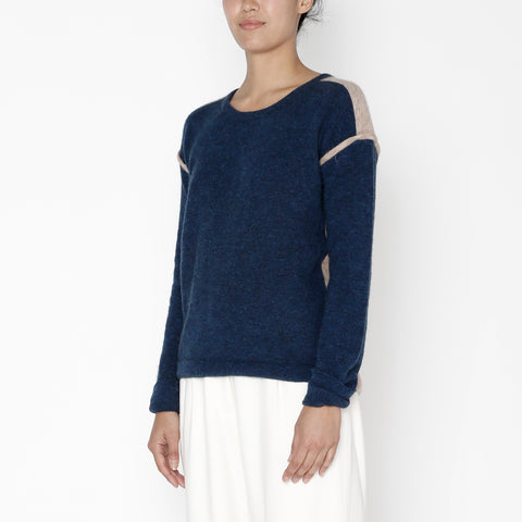 Highlighted Seam Sweater - FW19 - Indigo + Faune