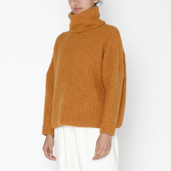 Heavy Ribbed Turtleneck - FW19 - Pumpkin
