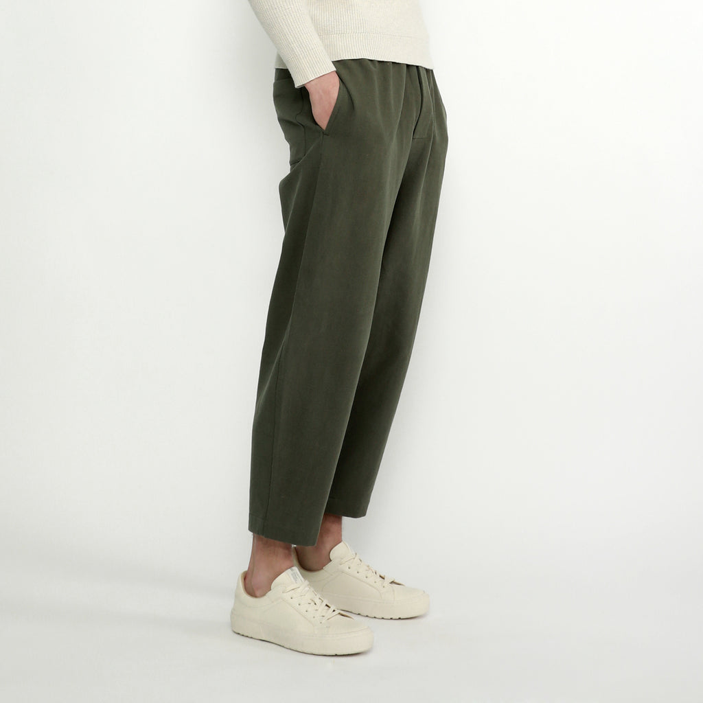 Unisex Elastic Pull-Up Trouser - Linen - Color Options