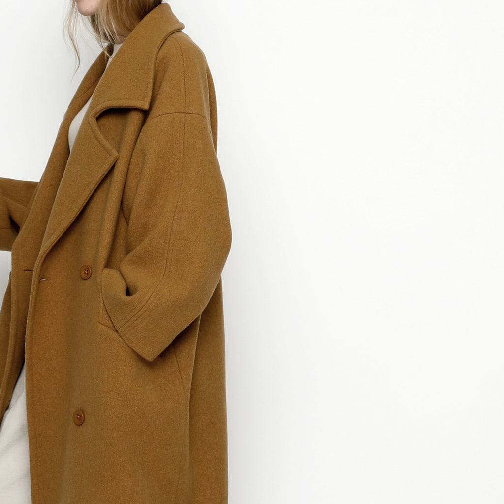 Oversized Long Wool Coat - Fall Edition - FW20 - Bronze
