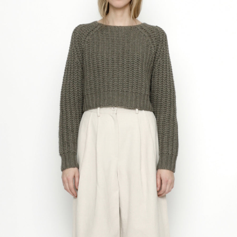 Chunky Cropped Jumper - FW20 - Gray