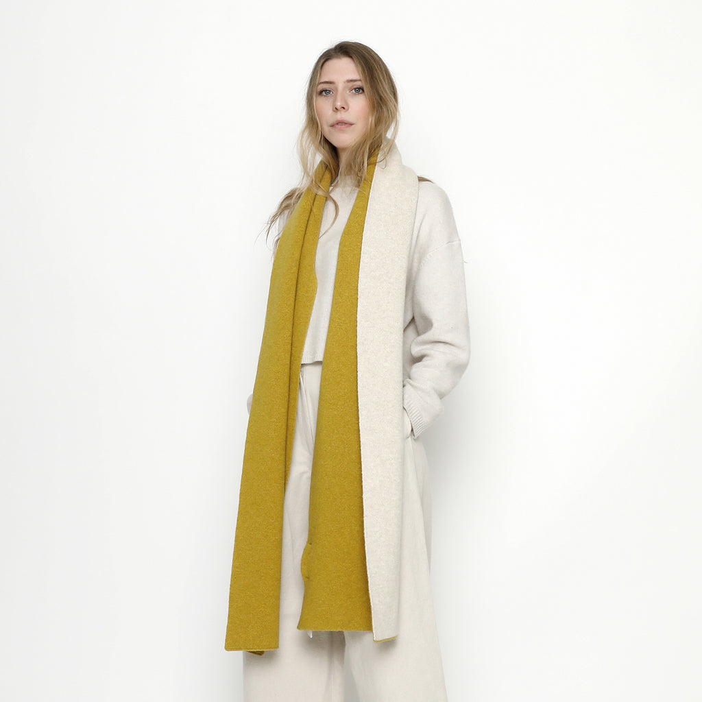 Double Sided Scarf - FW20 - Mustard + Cream