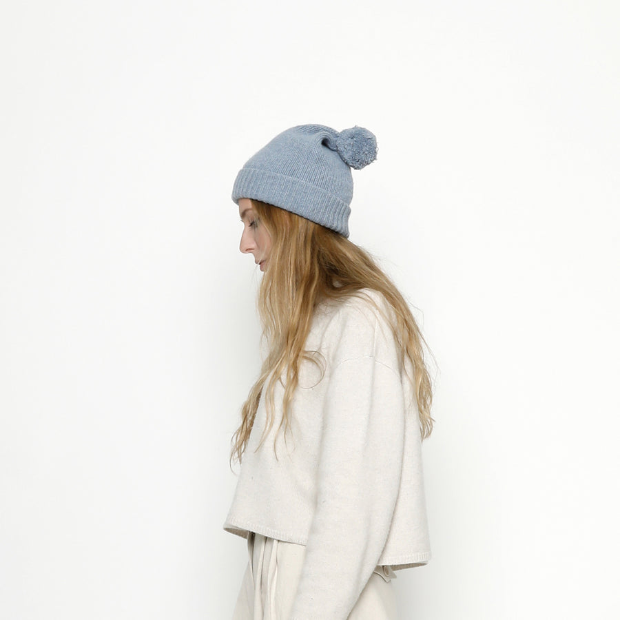 Pom Pom Beanie - FW20 - Powder Blue