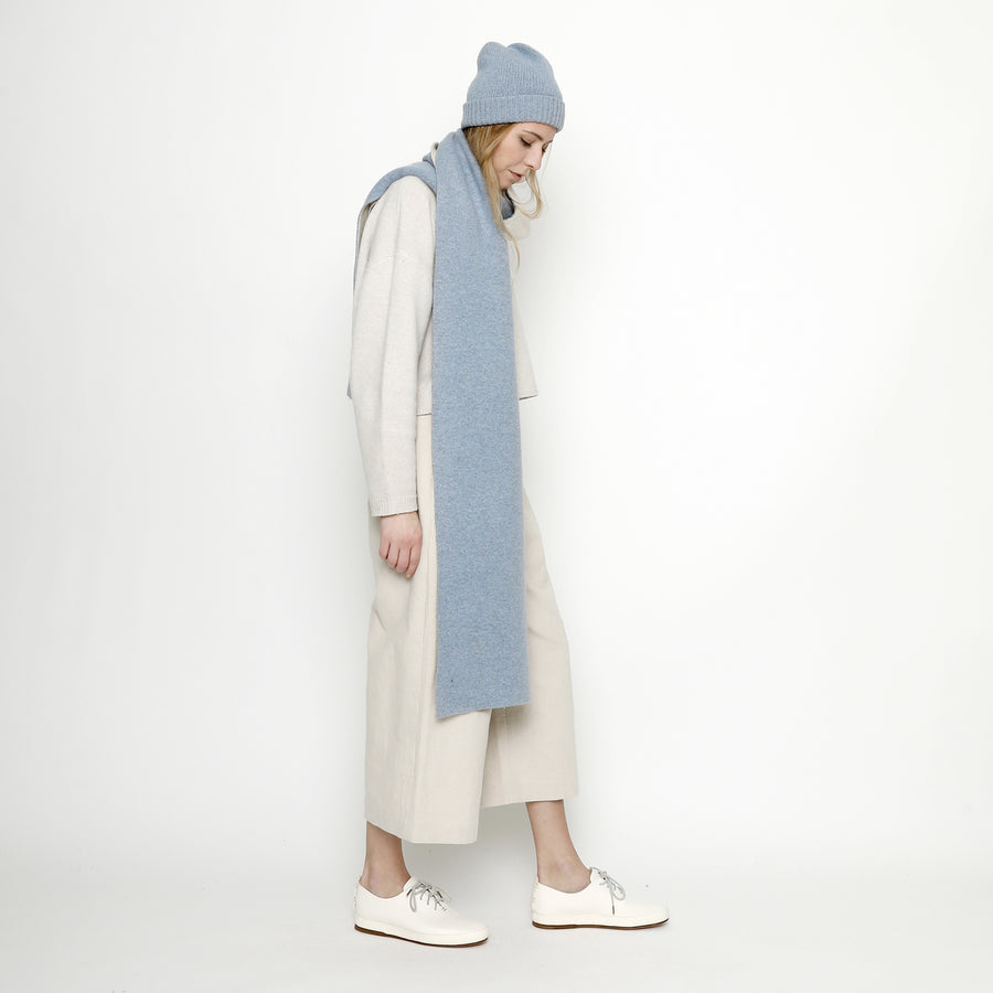 Double Sided Scarf - FW20 - Powder Blue + Cream
