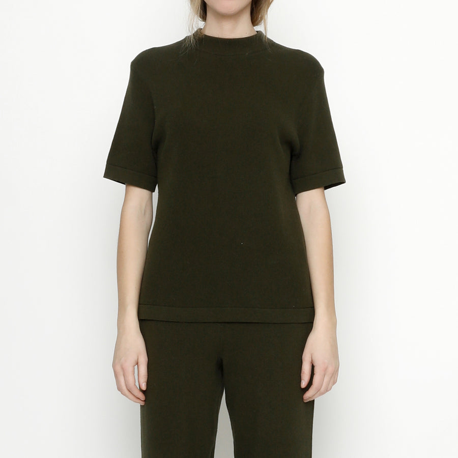 Fine Knit Mock-Neck - FW20 - Olive