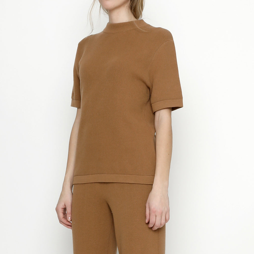 Fine Knit Mock-Neck - FW20 - Bronze