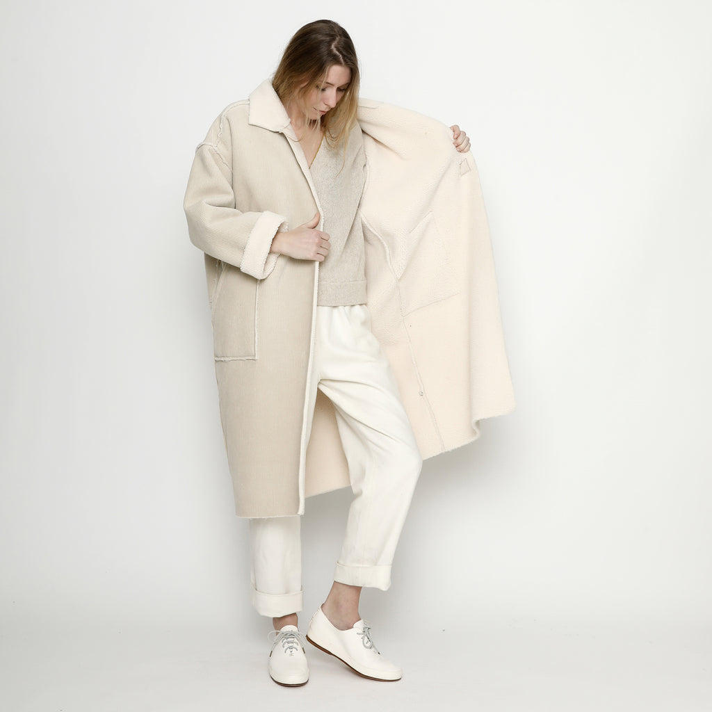 Corduroy Fleece Coat - FW20 - Off-White
