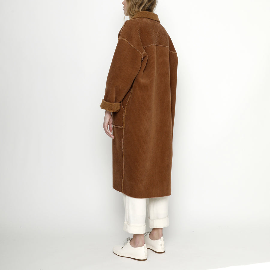 Corduroy Fleece Coat - FW20 - Rust