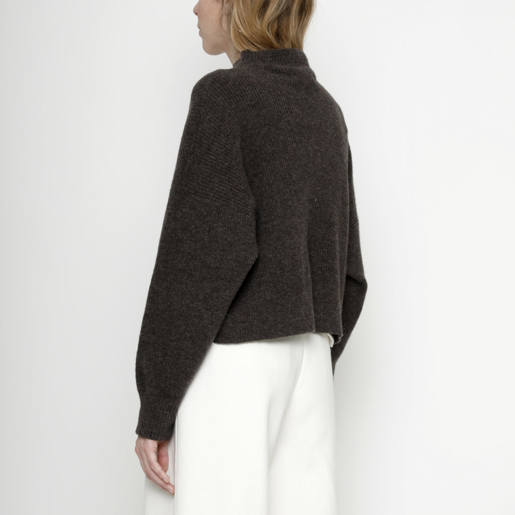 Ribbed Mock-Neck Sweater - FW20 - Espresso