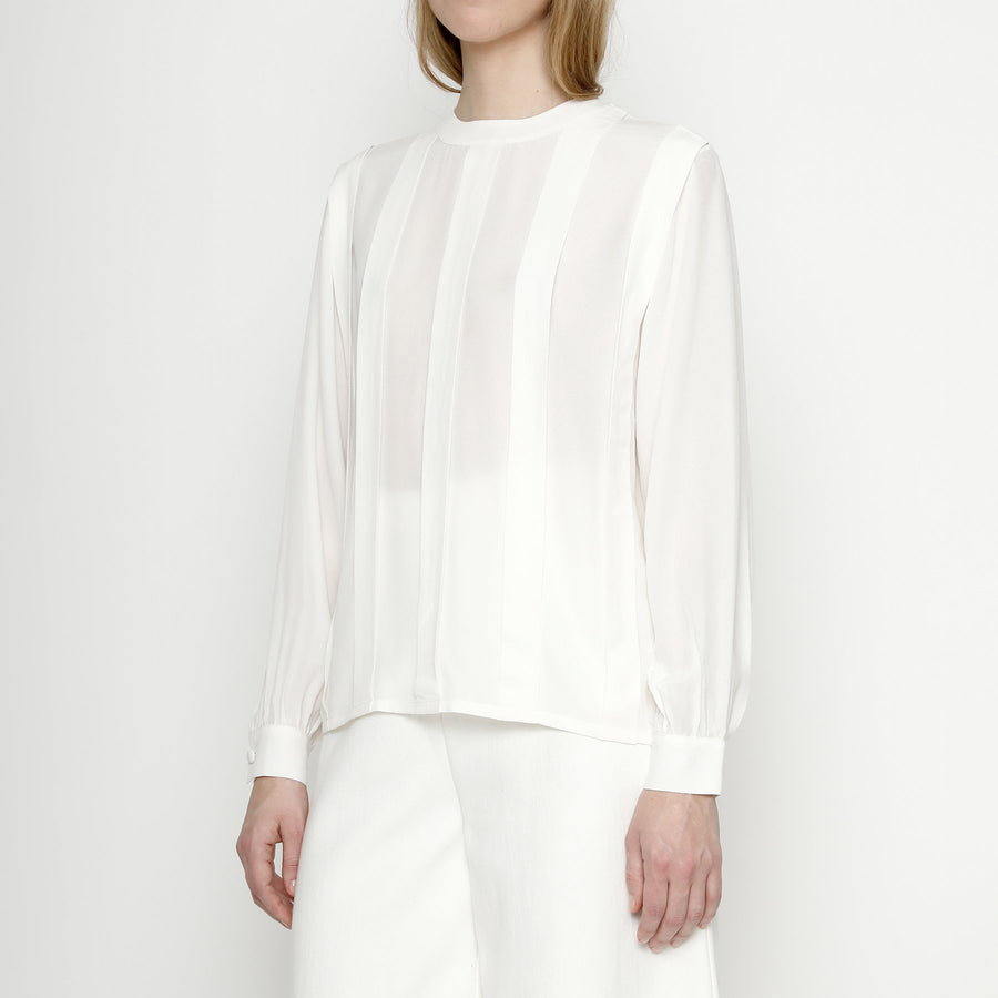 Pleated Silk Blouse - FW20 - Color Options
