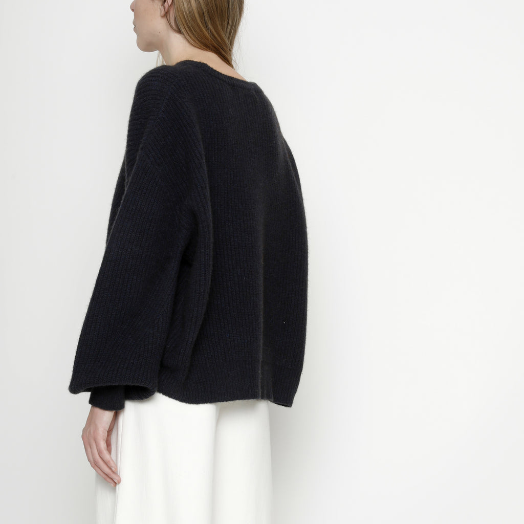 Poet Sleeves Sweater - FW20 - Navy