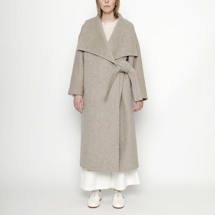 Lapel Long Wool Coat - FW20 - Oatmeal