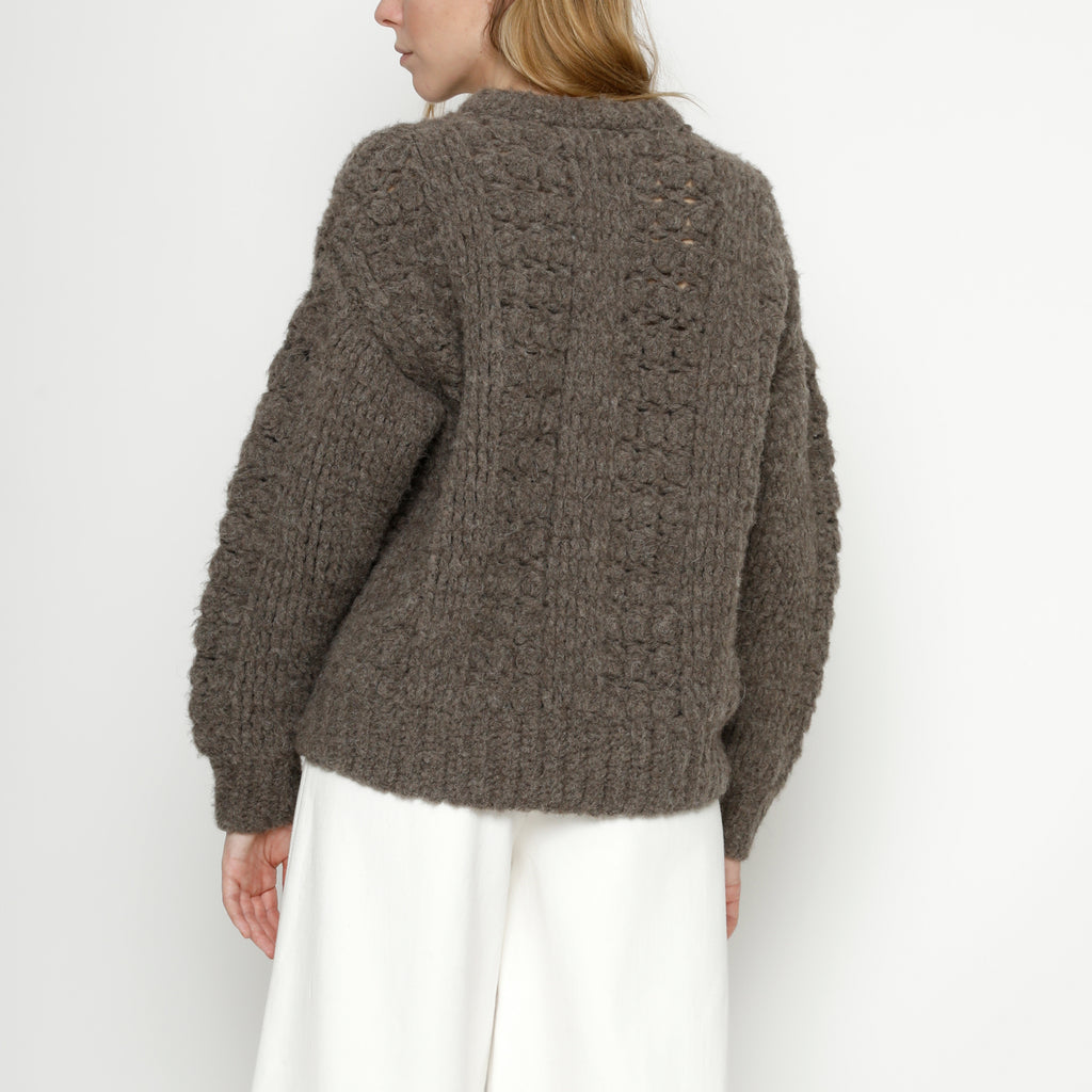Hand Crocheted Lantern Sweater - FW20 - Umber