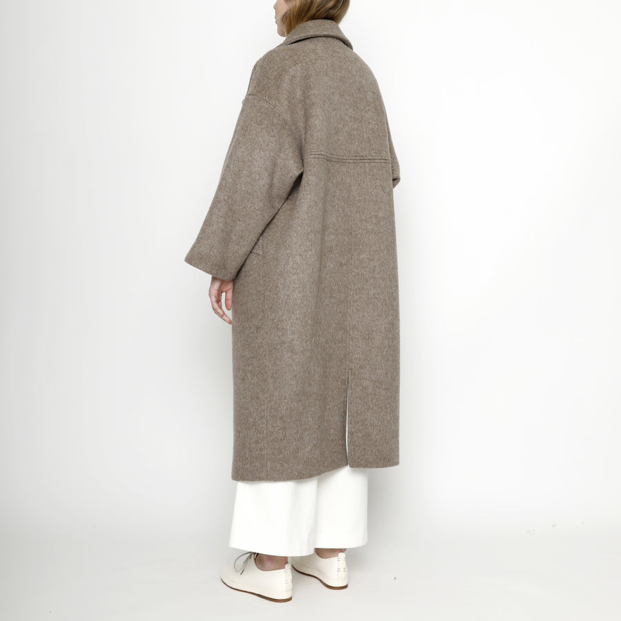 Oversized Long Wool Coat - Winter Edition - FW20 - Heathered Taupe