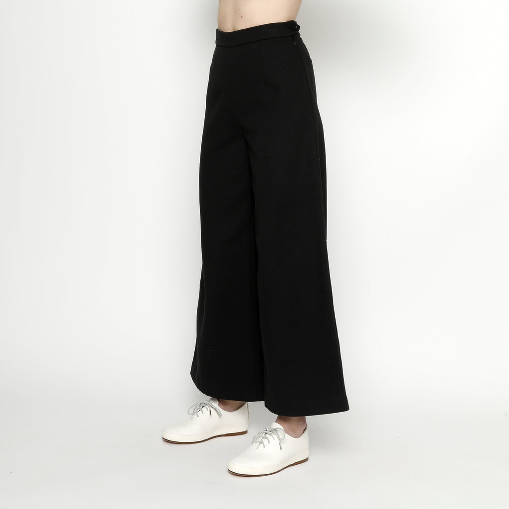 Winter Wide-Legged Trouser - FW20 - Black