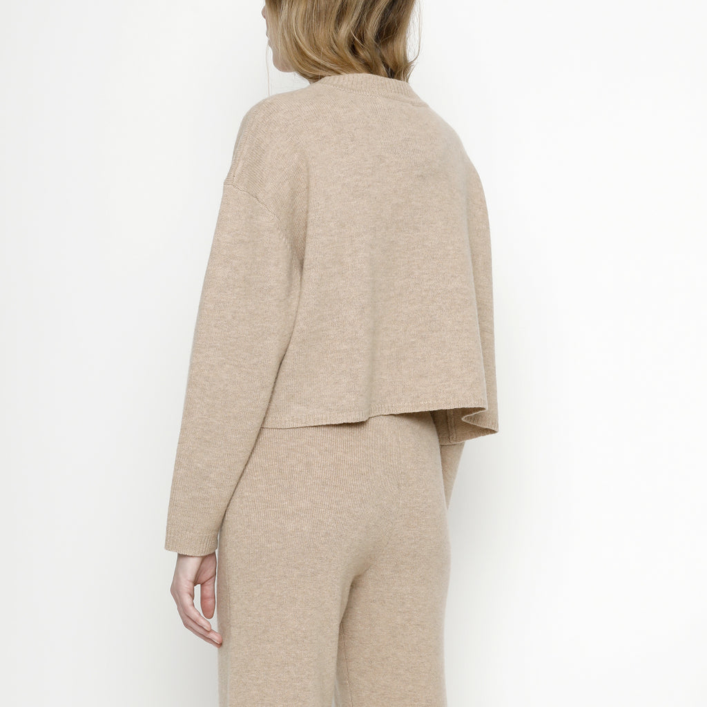 Relaxed Mock-Neck Sweater - FW20 - Tan
