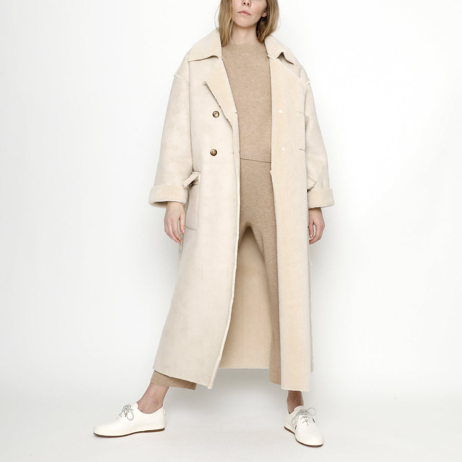 Faux Suede Long Coat - FW20 - Off-White
