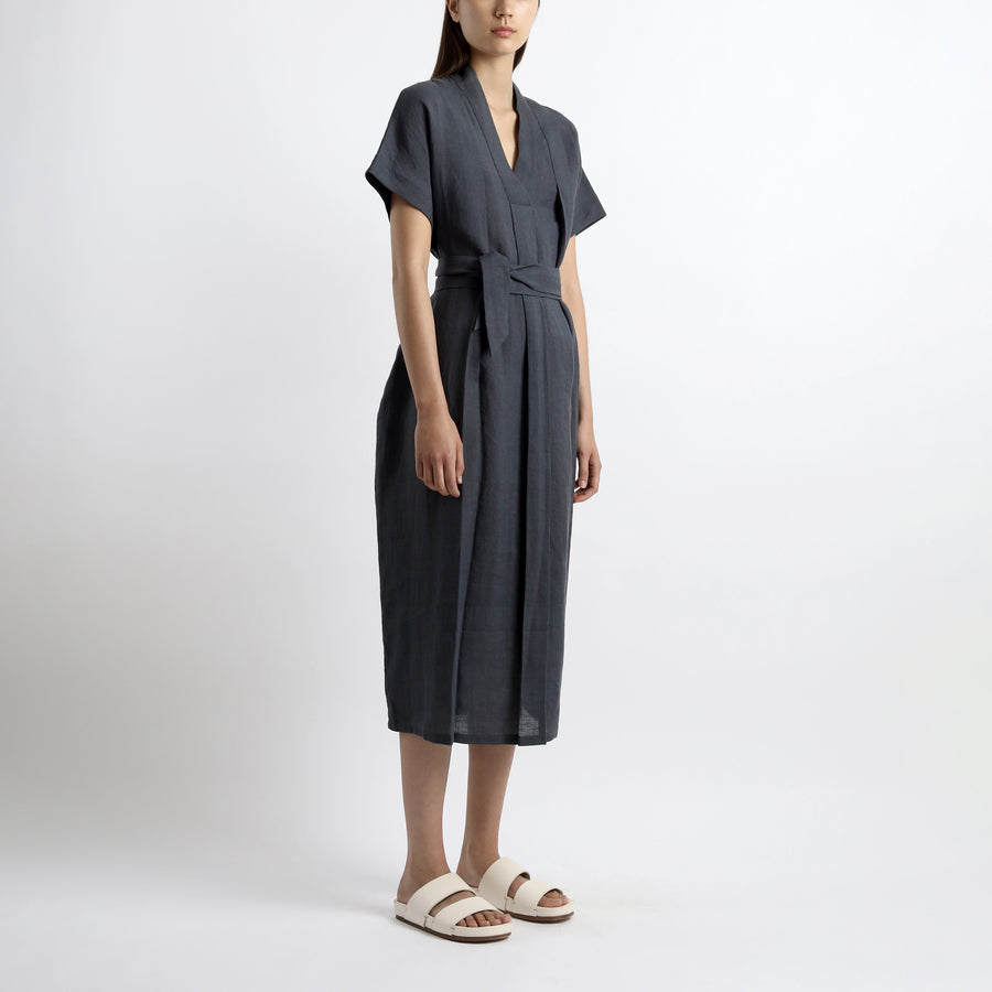 Pleated Kaftan Maxi - SS21 - Navy