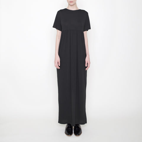 Short-Sleeves Maxi - Black - FW17
