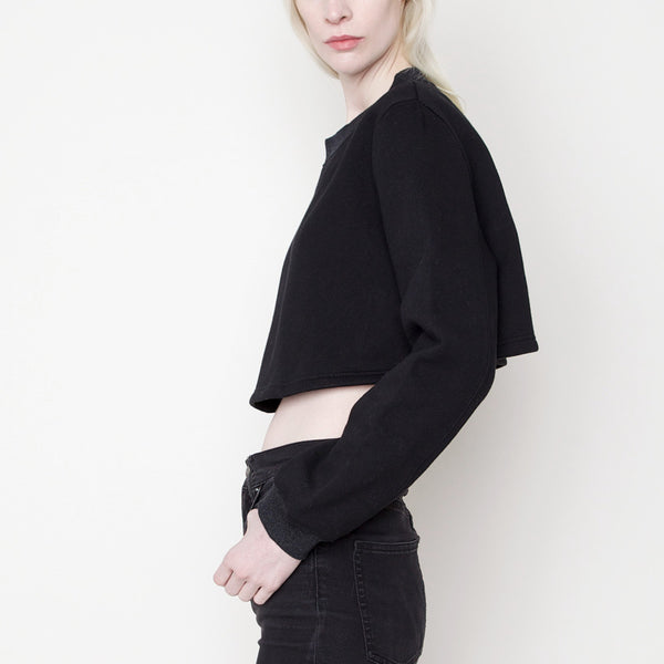 Cropped Sweatshirt PS15 - Black