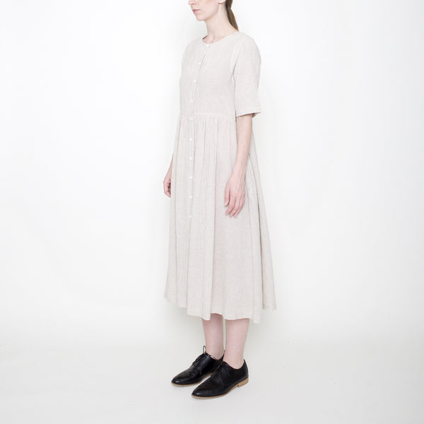 Linen Play Dress - Beige - FW17