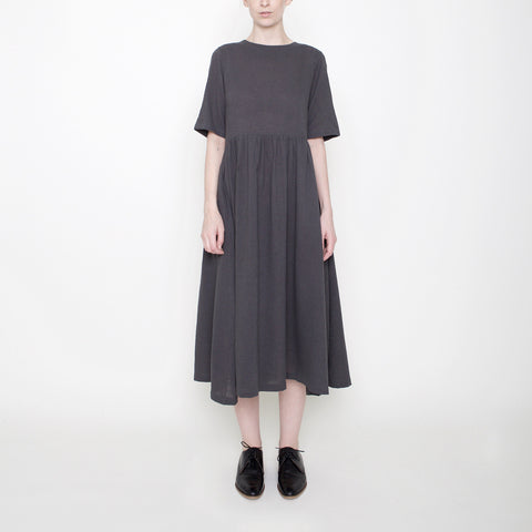 Linen Play Dress - Gray - FW17