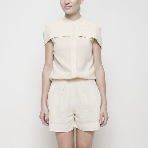 Capelet Button-Up SS15 - Cream