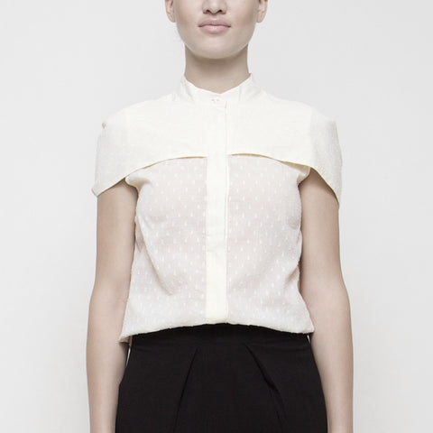 Capelet Button-Up SS15 - Cream Dots