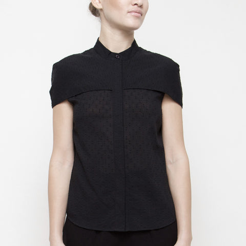 Capelet Button-Up SS15 - Black Dots