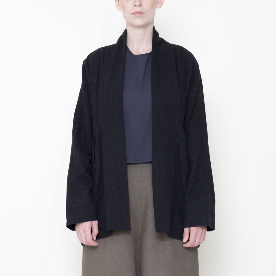 Signature Linen Sumo Jacket - Black