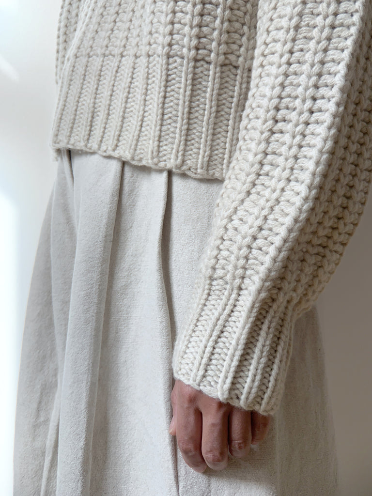 Chunky Cropped Jumper - FW20 - Cream