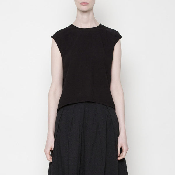 Solid Cropped Top PF15 - Black