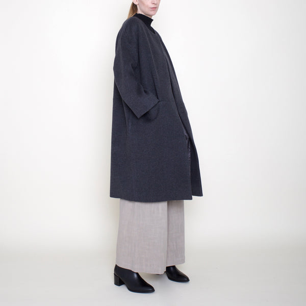 Cocoon Wool Coat - Charcoal - FW18