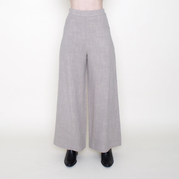 Linen Wide-Legged Trouser - Sand - FW18