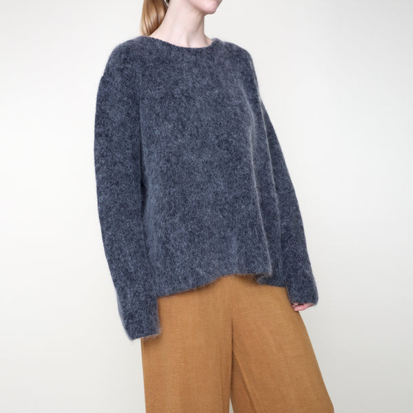 Classic Fisherman Sweater - Mohair - Charcoal - FW18