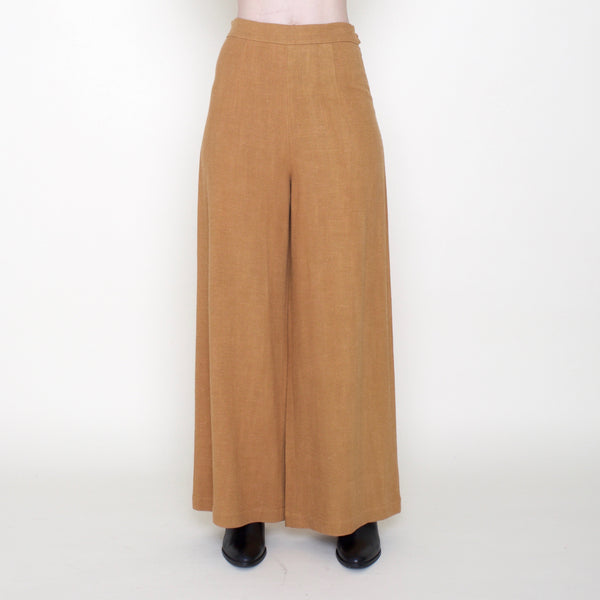 Linen Wide-Legged Trouser - SS19 - Turmeric