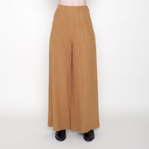 Linen Wide-Legged Trouser - Sienna - FW18