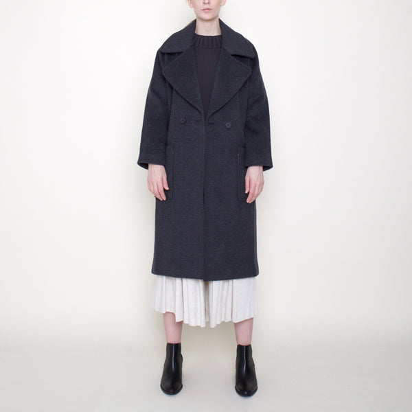 Classic Long Wool Coat - FW19 - Charcoal