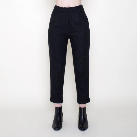 Wool Cropped Trouser - Charcoal - FW18