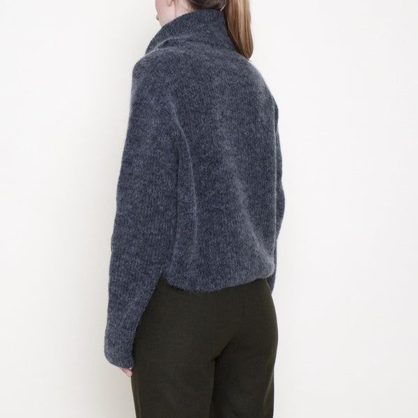 Classic Cropped Turtleneck - Mohair - Charcoal - FW18
