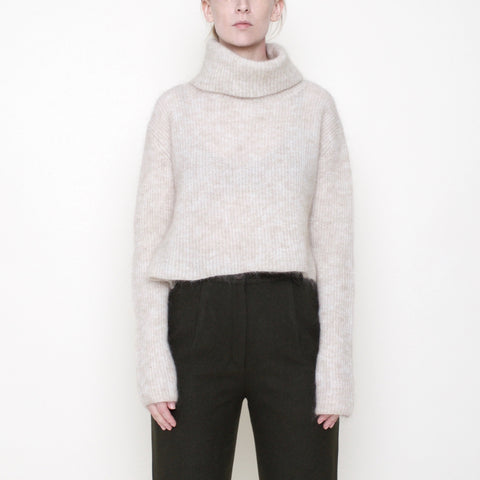 Classic Cropped Turtleneck - Mohair - Cream - FW18