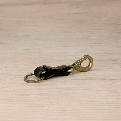 7115 Leather Keychain - Black
