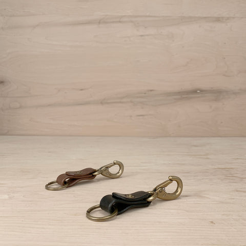 7115 Leather Keychain - Brown