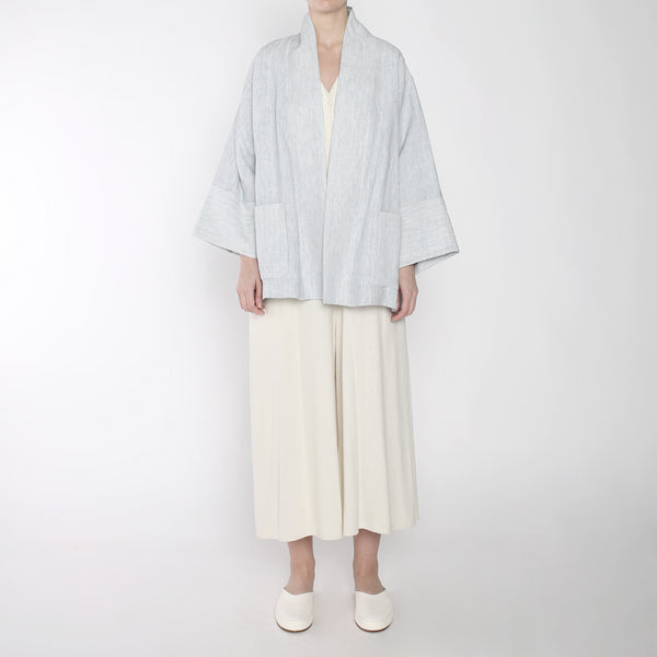 Pinstripe Linen Two Way - SS19 - Blue Stripe