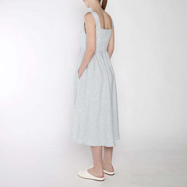 Pinstripe Summer Sundress - SS19 - Blue Stripe