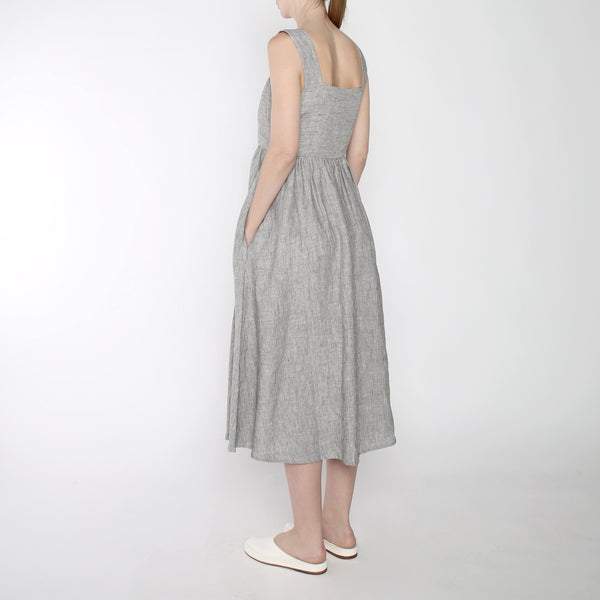 Pinstripe Summer Sundress - SS19 - Black Stripe