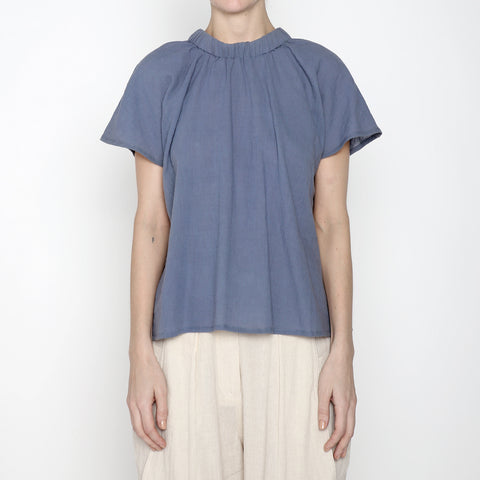 Ruched Neck Top - SS19 - Powder Blue